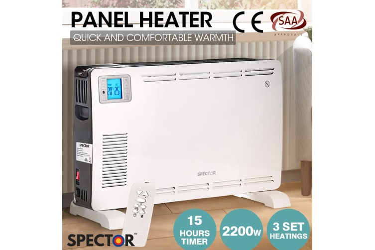 Spector Electric Infrared/Ceramic/Oil Heater Indoor Outdoor Home Patio Portable  -  Type D Panel Heater