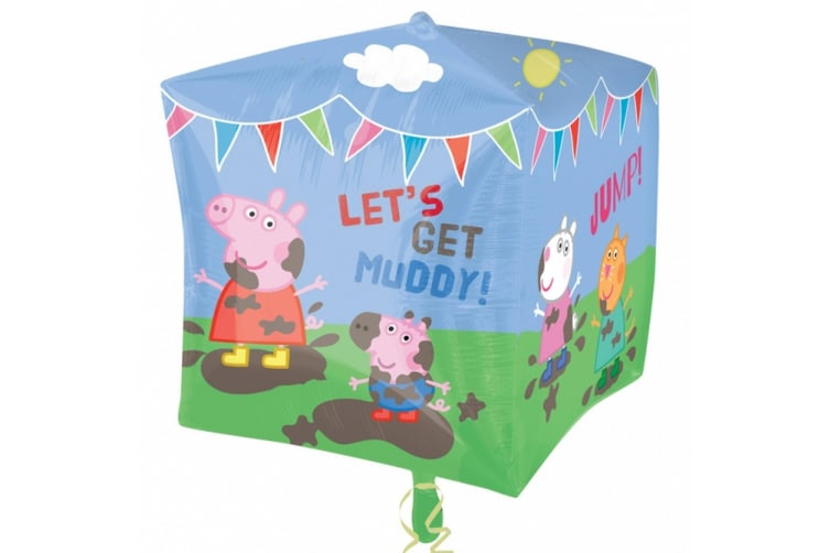 Amscan Supershape Peppa Pig & Friends Cubez Balloon (Multicoloured) (One Size)