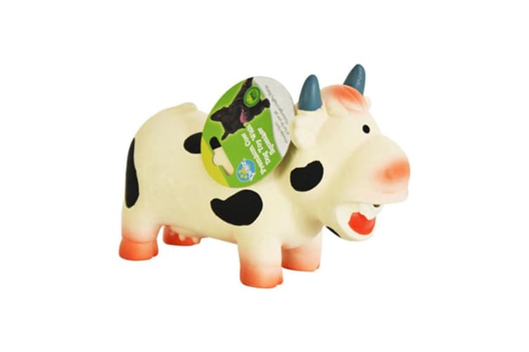 Durable Latex Cow Squeaky Pet Chew Toy Cute Cow Cat Dog Toys Squeaker Premium