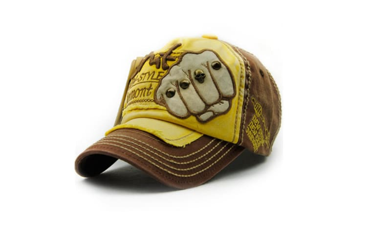 Adjustable Jeans Style Unisex Cotton Baseball Caps with Embroidery denim  Yellow