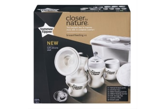 Tommee Tippee Closer To Nature Manual Breast/Milk Pump Kit BPA Free Silicone