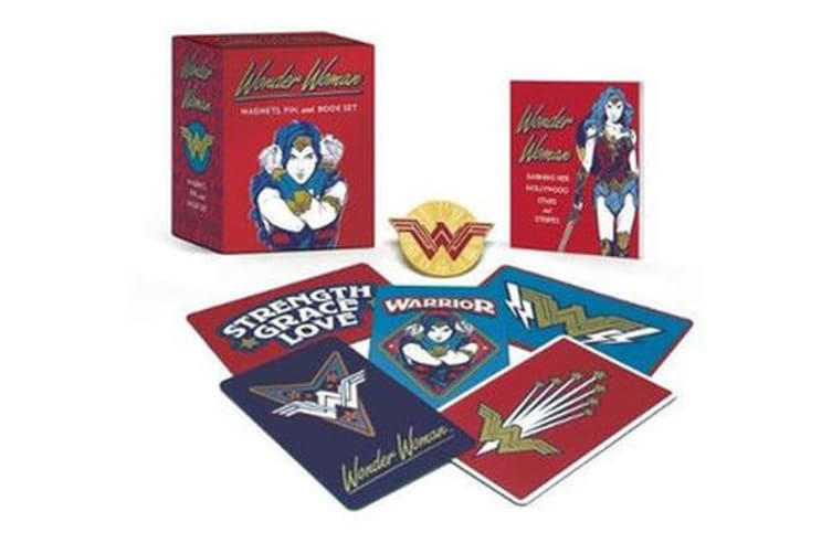 Wonder Woman - Magnets, Pin, and Book Set