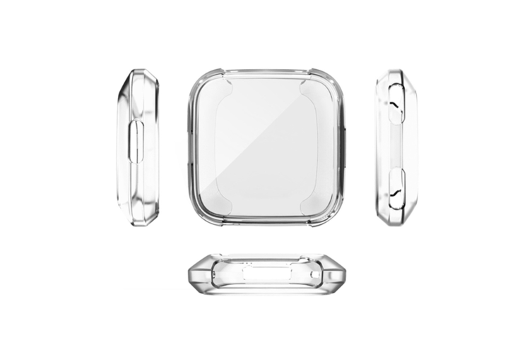 Cover Case For Fitbit Versa Smart Band,Ultra-Thin Soft Plating Tpu Silicone Watch Casing Guard Clear