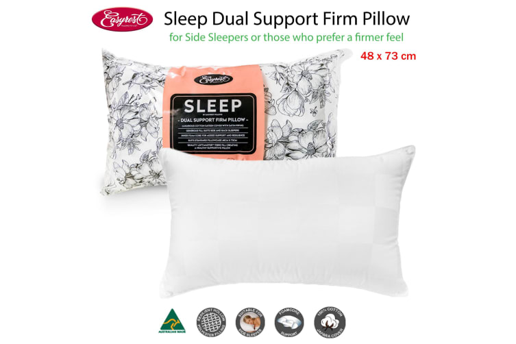 Sleep Dual Support Firm Standard Pillow Suits Side Sleeper by Easyrest