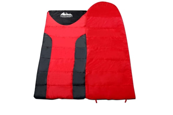 Camping Single Sleeping Bag -15 to 10 (Red/Black)