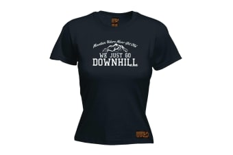 Ride Like The Wind Cycling Tee - Mountain Bikers Never Get Old Downhill - (XX-Large Black Womens T Shirt)