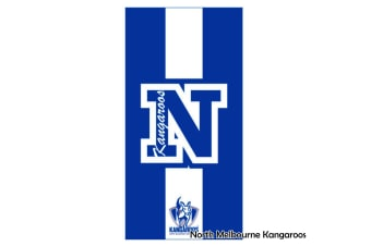 AFL Licensed Cotton Beach Towel North Melbourne Kangaroos