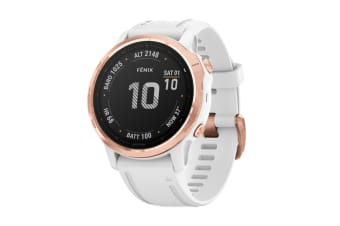 Garmin Fenix 6S Pro (Rose Gold with White Band)