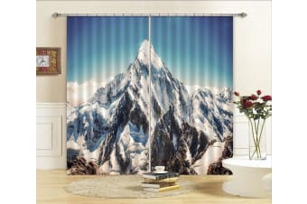3D Snow Mountains Peaks 375 Curtains Drapes, 203cmx241cm(WxH) 80''x 94''