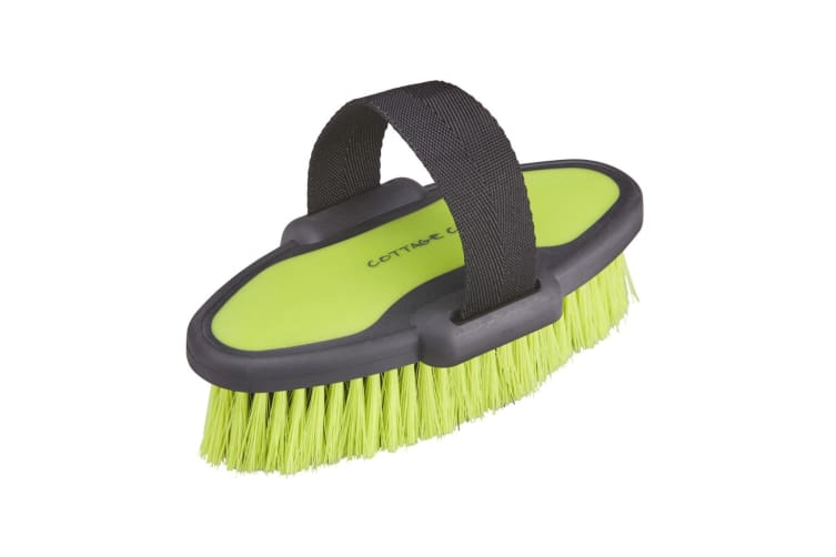 Cottage Craft Double Moulded Body Brush (Neon Green) (Small)