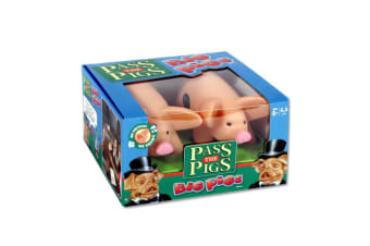 Pass The Pigs 15cm Figure Pig Dice Game & Cards w/Case 7y+ Family/Kids/Adult