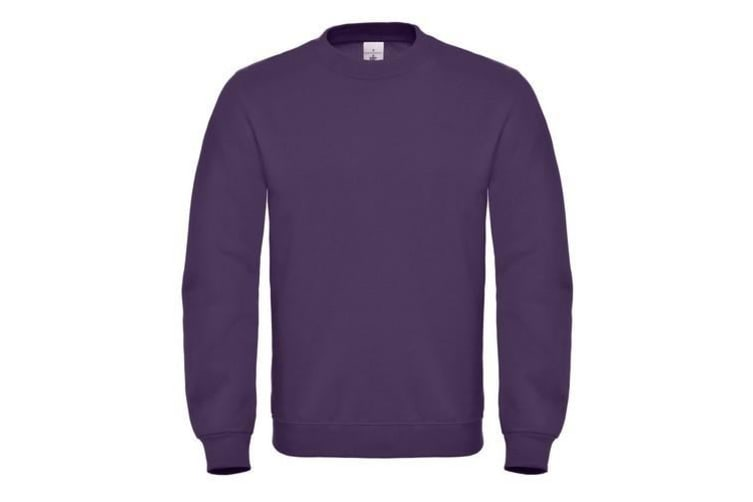 B&C Mens Crew Neck Sweatshirt Top (Radiant Purple) (XS)