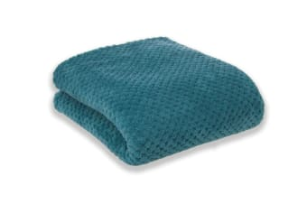 Apartmento Diamond Fleece Blanket (Turquoise)