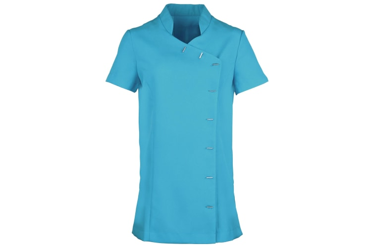 Premier Womens/Ladies *Orchid* Tunic / Health Beauty & Spa / Workwear (Pack of 2) (Turquoise) (20)