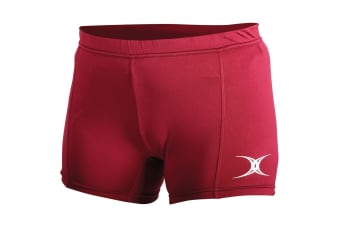 Gilbert Netball Womens/Ladies Eclipse Sports Shorts (Maroon)