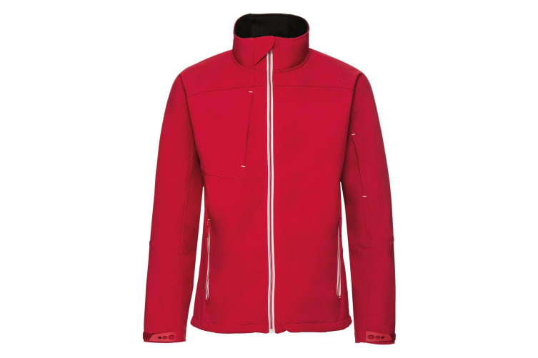 Russell Mens Bionic Softshell Jacket (Classic Red) (M)