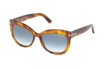 Tom Ford FT0524 - Blonde Havana (Blue Gradient lens) Womens Sunglasses