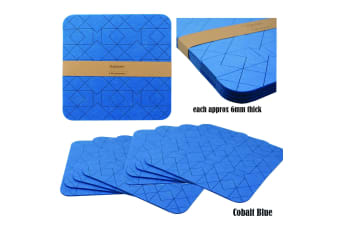 Set of 8 Felt Placemats Cobalt Blue