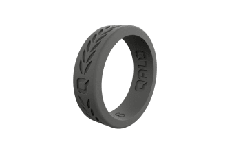 QALO Women's Charcoal Laurel Q2X Ring Size 5