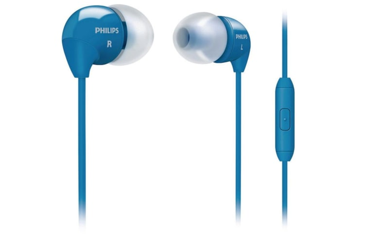 Philips SHE3595BL Handsfree headset Earphones in-ear Mic for iPhone Samsung HTC
