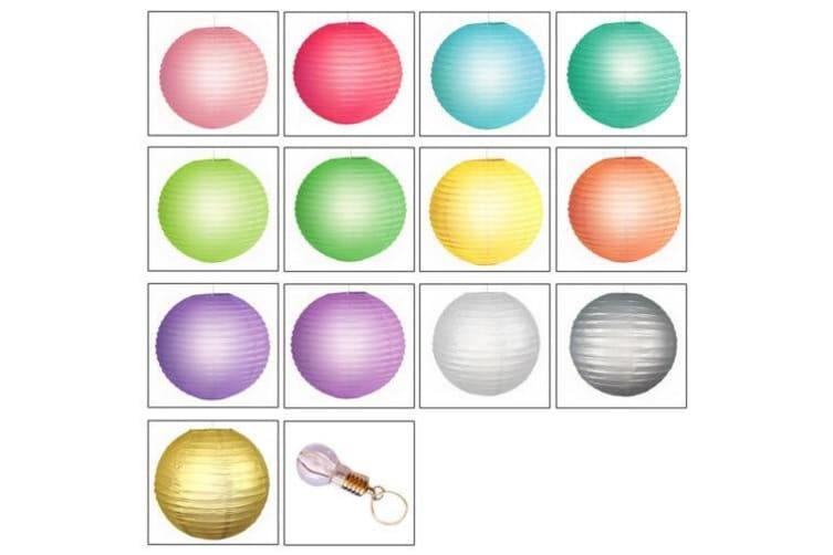 """12"""" Paper Lanterns for Wedding Party Festival Decoration - Mix and Match Colours  -  Grass GreenNo"""