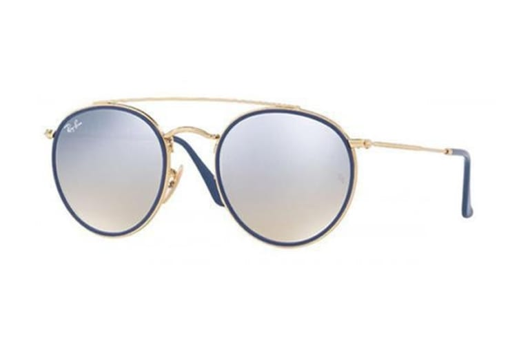 Ray Ban RB3647N 0019U 51 Gold with Blue Womens Sunglasses