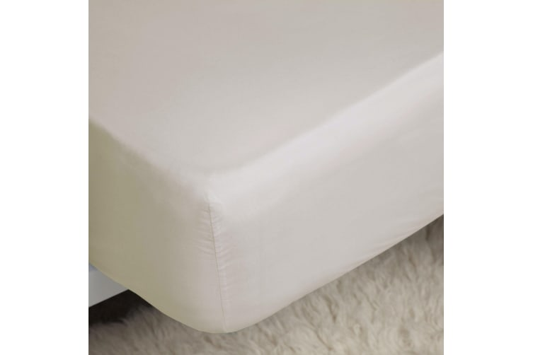 Belledorm 200 Thread Count Cotton Percale Extra Deep Fitted Sheet (Ivory) (Kingsize)