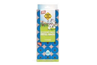 Bags On Board Dog Waste Bag Pantry Pack (21x15) (Blue) (One Size)