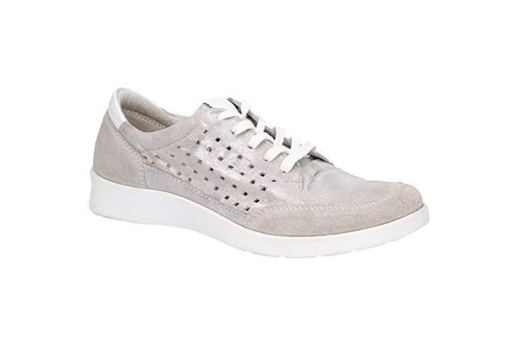 Hush Puppies Womens/Ladies Molly Lace Up Shoes (Silver) (6 UK)