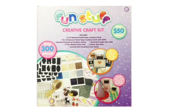 Fun Stuff Kids/Children 5y+ DIY Creative Card/Sticker Art/Craft Kit w/Over 300pc