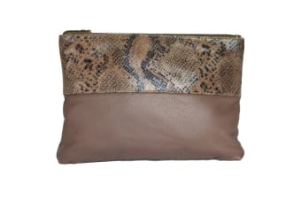 Eastern Counties Leather Womens/Ladies Courtney Clutch Bag (Taupe/Beige Foil) (One size)