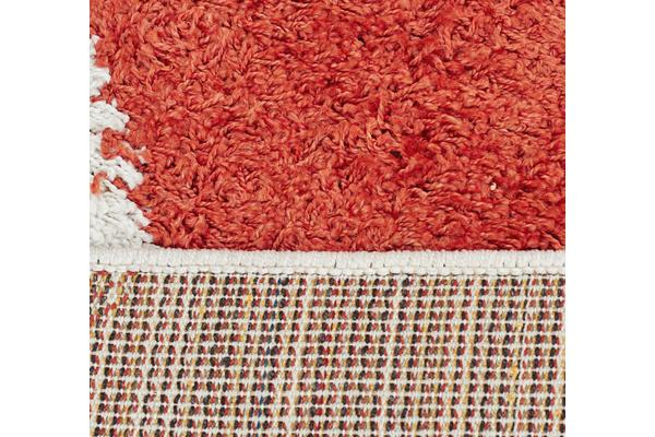 Burst Shag Rug Tangerine and Charcoal 330x240cm