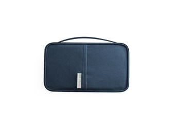 Passport Bag Oxford Cloth Portable Waterproof Card Bag Navy S