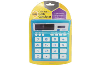 Marbig Coloured Desk Calculator Blue