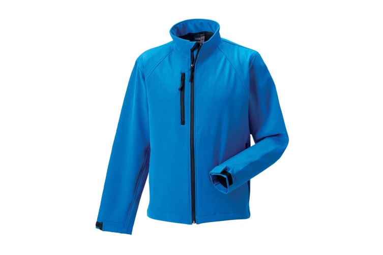 Russell Mens Water Resistant & Windproof Softshell Jacket (Azure Blue) (XL)