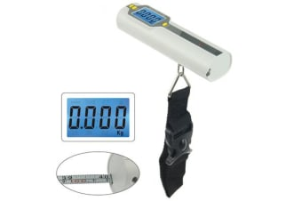 Portable Digital Backlit Lcd Electronic Scale 50Kg/10G Tape Measure Luggage Belt