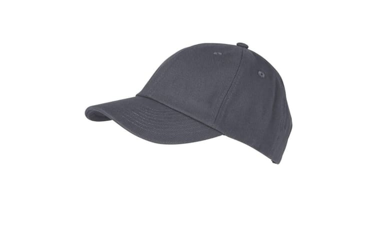 Myrtle Beach Adults Unisex 6 Panel Heavy Brushed Cap (Carbon Grey) (One Size)