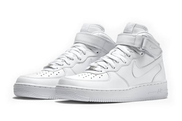 Nike Men's Air Force 1 Mid '07 Shoe (White, Size 12)