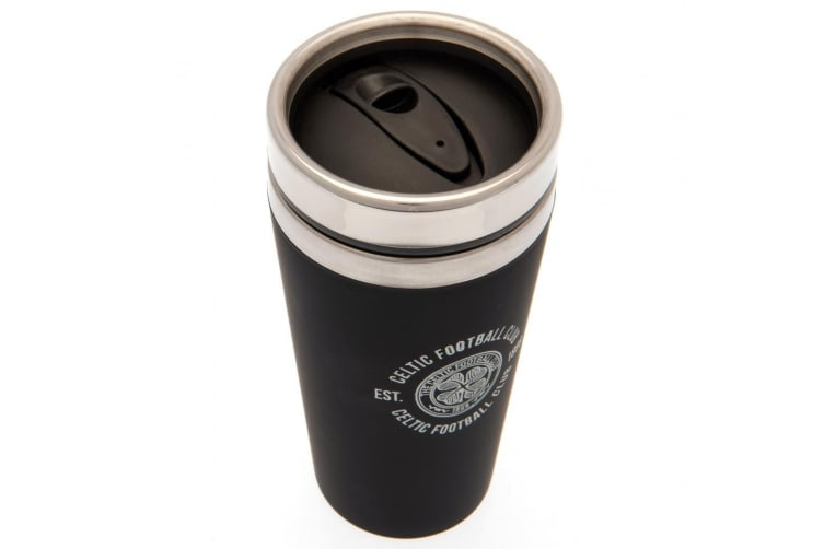 Celtic FC Executive Travel Mug (Black) (One Size)