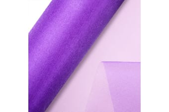 Club Green Organza 10 Metre Snow Sheer Roll (Purple)