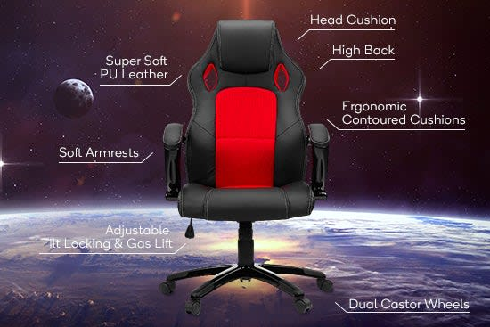 Ergolux RX8 Deluxe Gaming Office Chair Highlights