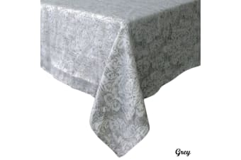 Royale Damask Table Cloth Grey 160 x 270 cm