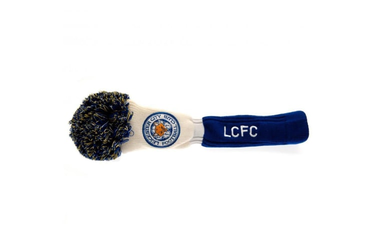Leicester City FC Official Driver Pompom Headcover (White/Blue) (One Size)