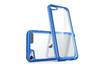 i-Blason iPod Touch 6 Gen Halo Scratch Resistant Hybrid Case ( Clear &  Blue Edge)