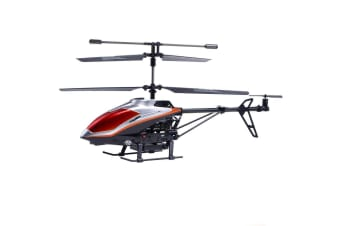 Lenoxx 34cm Helicopter Diecast Kids/Children/Adult Toy - Silver/Red