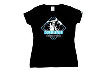 Ocean Bound Sailing Tee - Drug Of Choice - Black Womens T Shirt