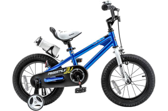 RoyalBaby Freestyle 16'' Kid's Bike for Boys and Girls, 16 inch with Training Wheels, Kickstand and Water Bottle, in Multiple Colors