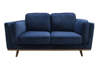York 2 Seater Fabric Sofa (Blue)