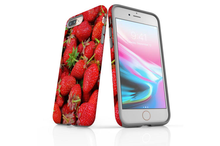 For iPhone 7 Plus Shielding Back Case  Strawberries