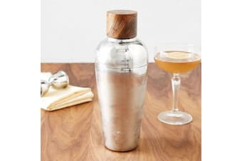 Admiral Rosewood Cap Stainless Steel Cocktail Shaker | Viski